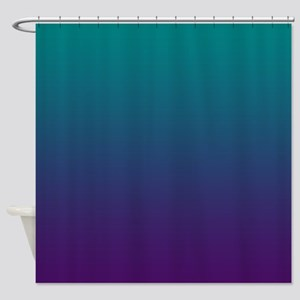 Ombre Purple And Teal Shower Curtain