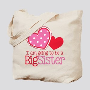 Valentine Big Sister to be Tote Bag
