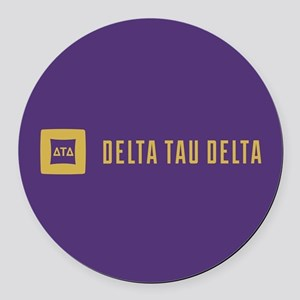Delta Tau Delta Logo and Letters Round Car Magnet