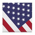 American Flag Tile Coaster --