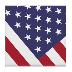 American Flag Tile Coaster --