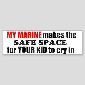 Safe Space Marine Bumper Sticker