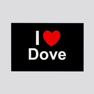 Dove Rectangle Magnet