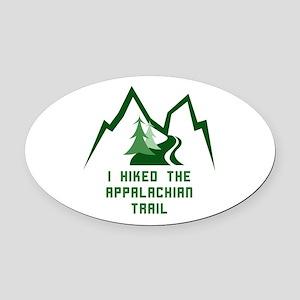 Hike the Appalachian Trail Oval Car Magnet