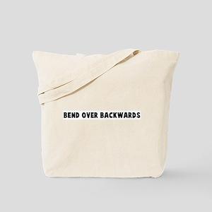Bend over backwards Tote Bag