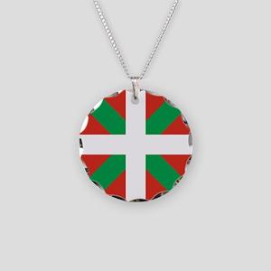 Basque Country: Euskaldun Fl Necklace Circle Charm