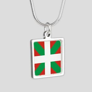 Basque Country: Euskaldun Silver Square Necklace