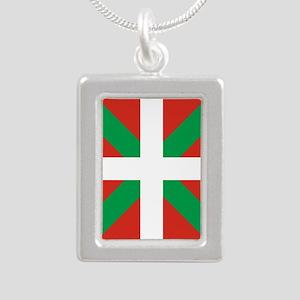 Basque Country: Euskaldu Silver Portrait Necklace