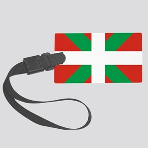 Basque Country: Euskaldun Flag Large Luggage Tag
