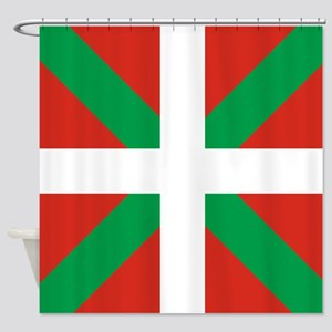 Basque Country: Euskaldun Flag Shower Curtain