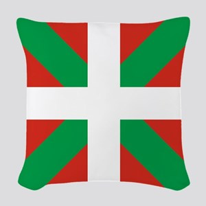 Basque Country: Euskaldun Flag Woven Throw Pillow