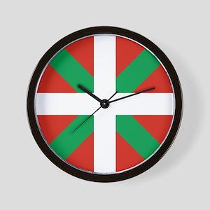 Basque Country: Euskaldun Flag Wall Clock