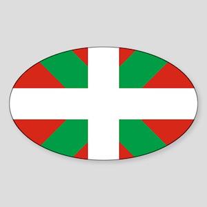Basque Country: Euskaldun Flag Sticker (Oval)