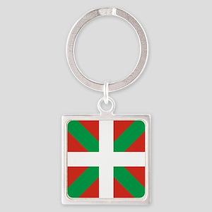 Basque Country: Euskaldun Flag Square Keychain