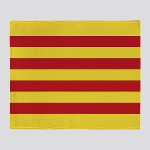 Catalunya: Catalan Flag Throw Blanket