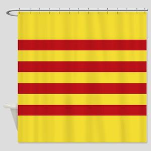 Catalunya: Catalan Flag Shower Curtain