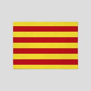Catalunya: Catalan Flag 5'x7'Area Rug