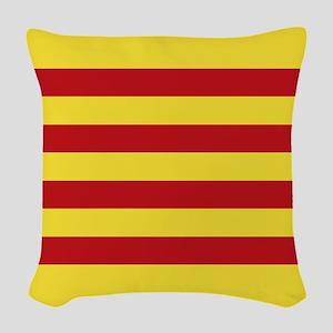 Catalunya: Catalan Flag Woven Throw Pillow
