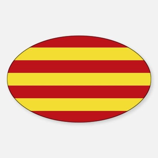 Catalunya: Catalan Flag Sticker (Oval)
