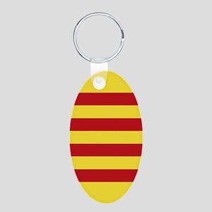 Catalunya: Catalan Flag Aluminum Oval Keychain