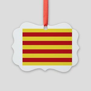 Catalunya: Catalan Flag Picture Ornament