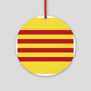 Catalunya: Catalan Flag Round Ornament