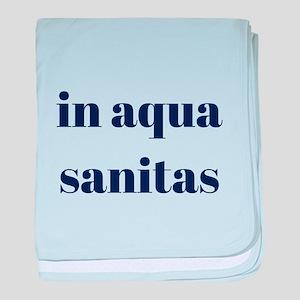 in aqua sanitas baby blanket