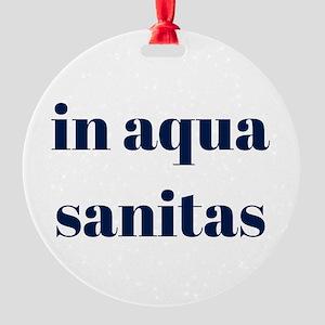 in aqua sanitas Round Ornament