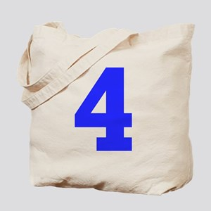 4 BLUE # FOUR Tote Bag