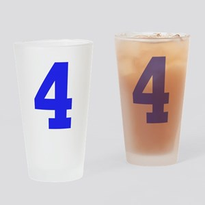 4 BLUE # FOUR Drinking Glass