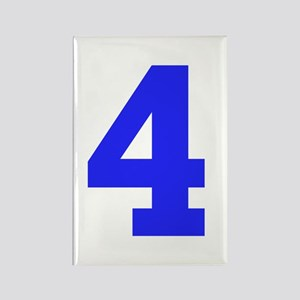 4 BLUE # FOUR Rectangle Magnet