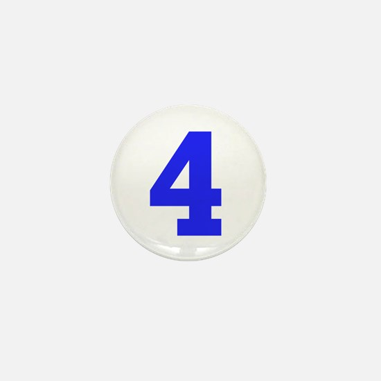 4 BLUE # FOUR Mini Button