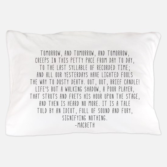 Macbeth Pillow Case