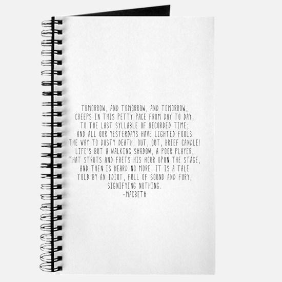 Macbeth Journal