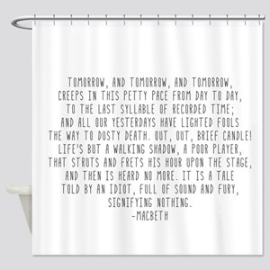 Macbeth Shower Curtain