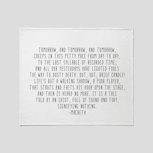 Macbeth Throw Blanket