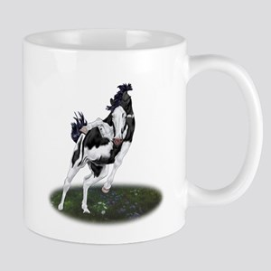 Rearing Black and White Overo Paint Horse Mugs