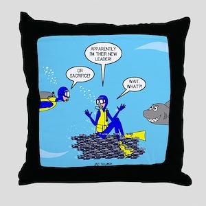 SCUBA King Throw Pillow