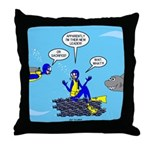 SCUBA King Throw Pillow