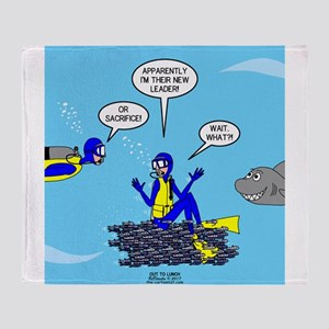 SCUBA King Throw Blanket