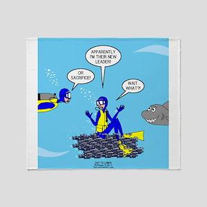SCUBA King Throw Blanket