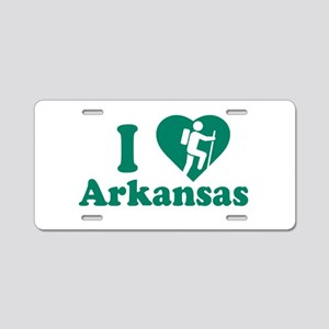 Love Hiking Arkansas Aluminum License Plate