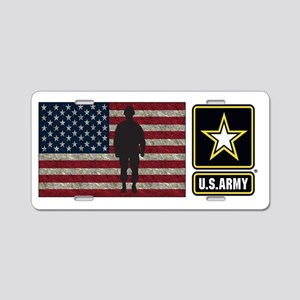 Usarmy Gold Star Flag Pp Aluminum License Plate