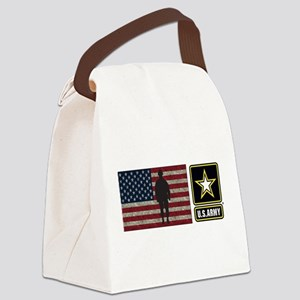 USArmy Gold Star Flag PP Canvas Lunch Bag