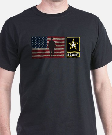 USArmy Gold Star Flag PP T-Shirt