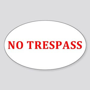 NO TRESPASS - Red/White Sticker