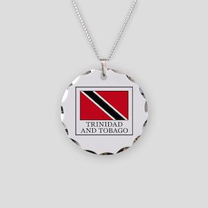 Trinidad and Tobago Necklace Circle Charm
