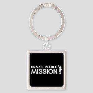 Brazil, Recife Mission (Moroni) Square Keychain