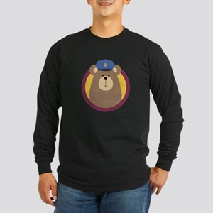 Police Officer Brown Bear in c Long Sleeve T-Shirt
