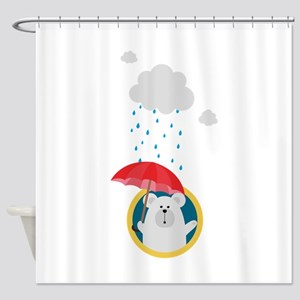 Polar Bear in the Rain Shower Curtain